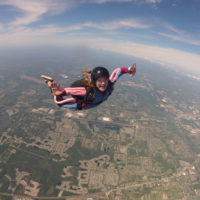 solo skydiver flies over Jacksonville FL