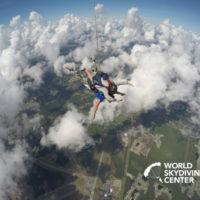 tandem skydiver with instructor over Jacksonville FL